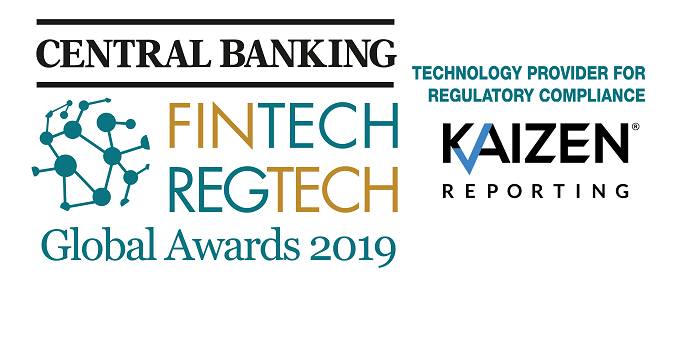 Kaizen Reporting named best 'Technology Provider for Regulatory Compliance' by FinTech and RegTech Global Awards